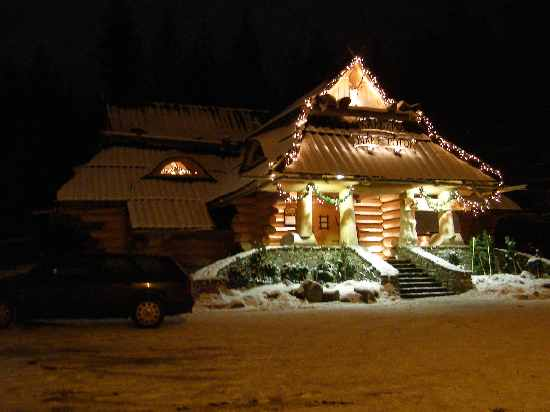 Zakopane - Holzhaus bei Nacht