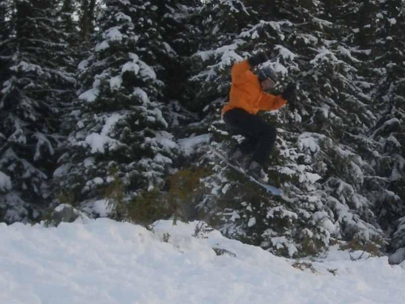 Snowboard was zum Springen!